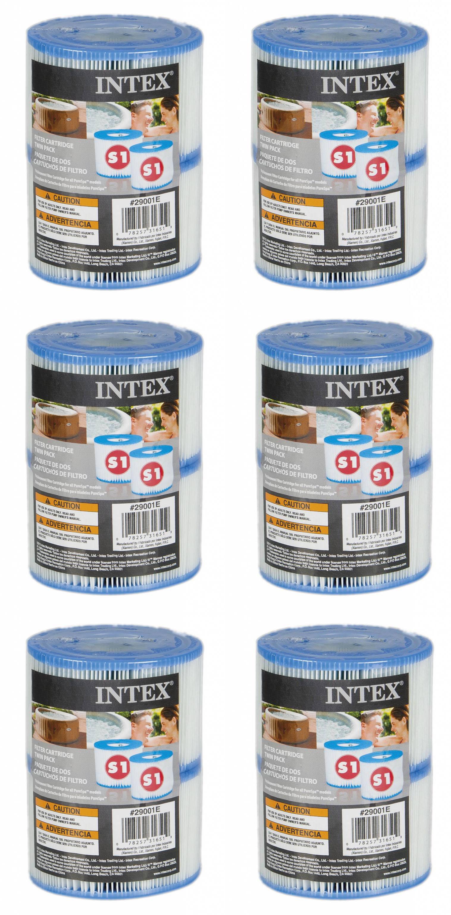 12 x Filterkartusche Spa S1 für Intex Whirlpool INTEX 29001 Filter Versandfrei