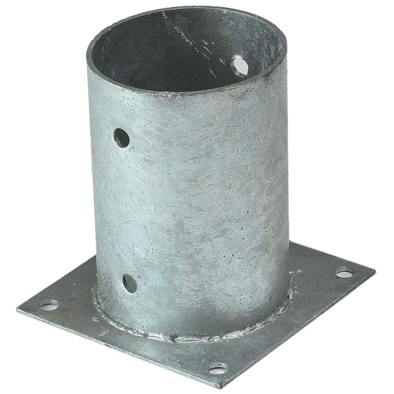 10x Aufschraubbodenhülse rund Ø81 mm Pfostenträger Aufschraubhülse feuerverzinkt