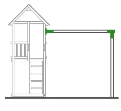 1x schaukelverbinder vierkant 90x90 100 1x wandverbinder schaukelverbinder 90 ebay. Black Bedroom Furniture Sets. Home Design Ideas