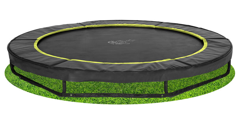 inground trampolin magic circle pro black 244 bodentrampolin gartentrampoline ebay. Black Bedroom Furniture Sets. Home Design Ideas