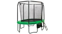 Ovale trampoline met veiligheidsnet